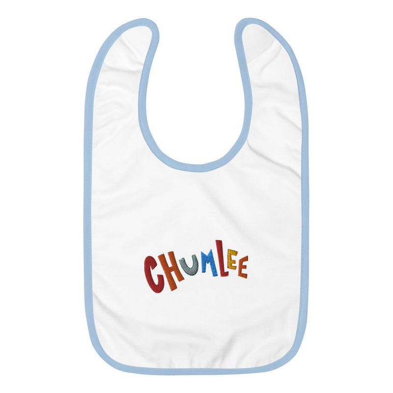 Toddler Chumlee cartoon Embroidered Baby Bib