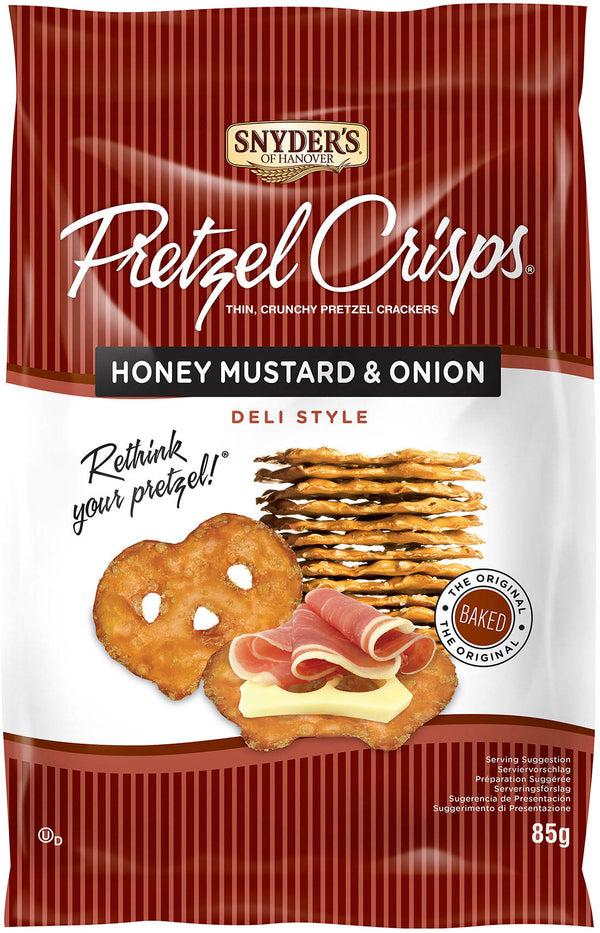 Pretzel Crisps Honey Mustard&Onion 85g  8 stk í ks