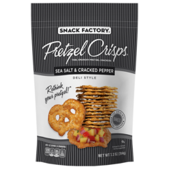 Pretzel Crisps Sea Salt & Pepper 204g  12 stk í ks