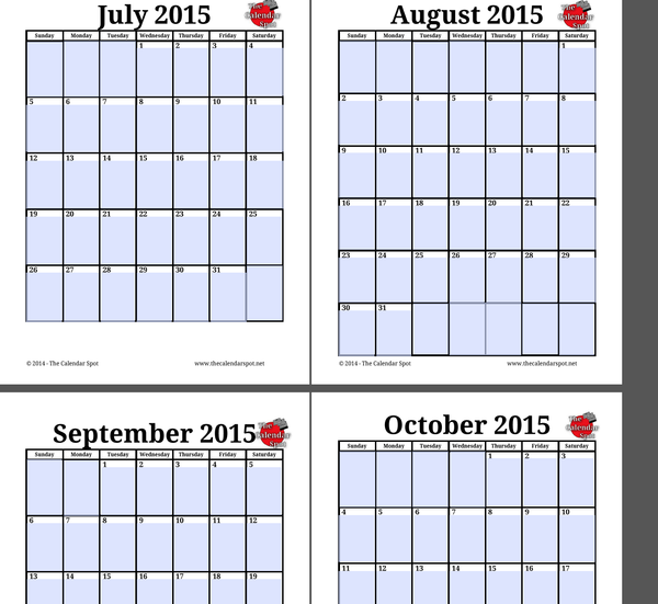 4 x 6 monthly calendar 2015 printable free autos post for 4 month calendar template 2015