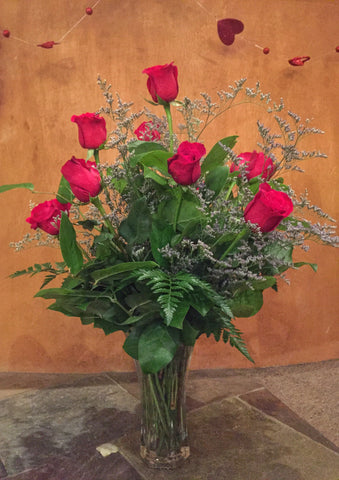Contemporary Red Roses - 1 Dozen