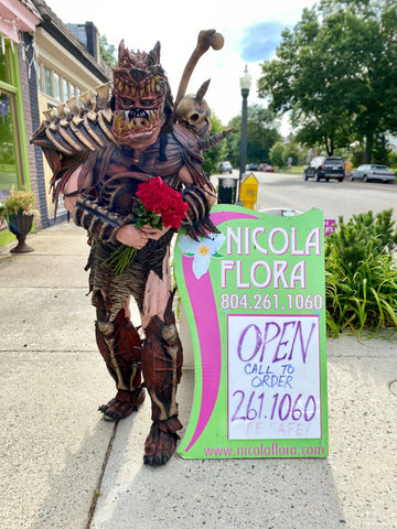 Valentine's Day Flowers and a Personal Message from GWAR's JiZMak Da Gusha