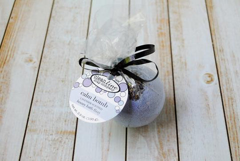 Clean Line Bath Bomb - Calm Bomb Lavender Scented Luxury Bath Fizzy