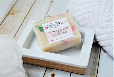 Clean Line Soap Company Goat Milk Soap - King's Garden Fresh Cut Rose