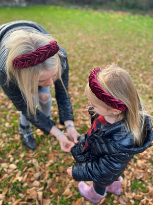 Mother & Daughter Braided Headband Set