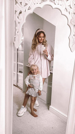 Mother & Daughter Matching Satin Braided Headbands