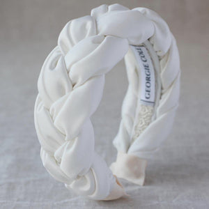 Bridal Crepe Satin Braided Headband