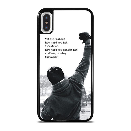 ROCKY MOTIVATIONAL QUOTES iPhone X / XS case,iphone x case in walmart eagles iphone x case lombardi,ROCKY MOTIVATIONAL QUOTES iPhone X / XS case