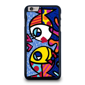 ROMERO BRITTO FISH LOVE iPhone 6 / 6S Plus Case Cover,plain black iphone 6 plus case slim matte sandstone iphone 6 plus case,ROMERO BRITTO FISH LOVE iPhone 6 / 6S Plus Case Cover