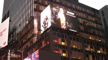 G.I. Joe Coffee New NYC Time Square Ad