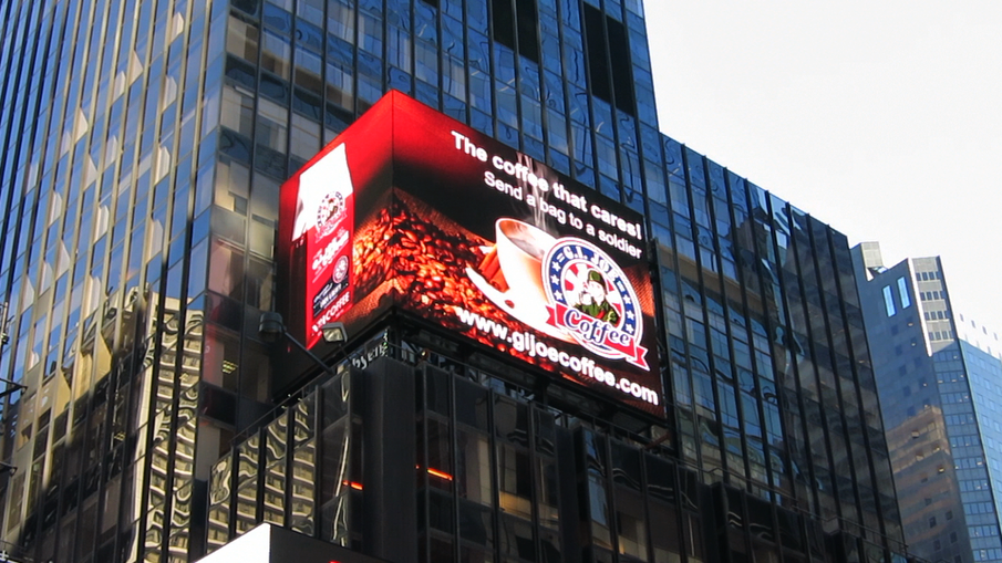 GI Joe Coffee Ad In NYC Time Square!