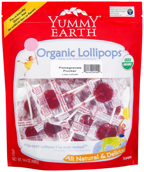 Organic Pomegranate Pucker Lollipops