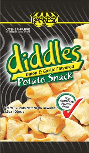 Paskesz Diddles Onion Garlic Potato Snack