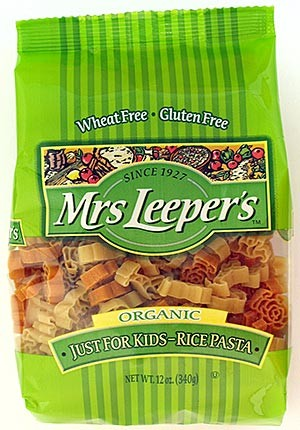 Mrs. Leepers Organic Just For Kids Rice Pasta