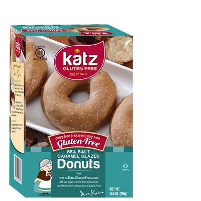 Katz Gluten Free Sea Salt Caramel Glazed Donuts **NEW**