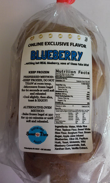 Sweet Note Gluten Free Blueberry Bagels ~NEW~SEASONAL~