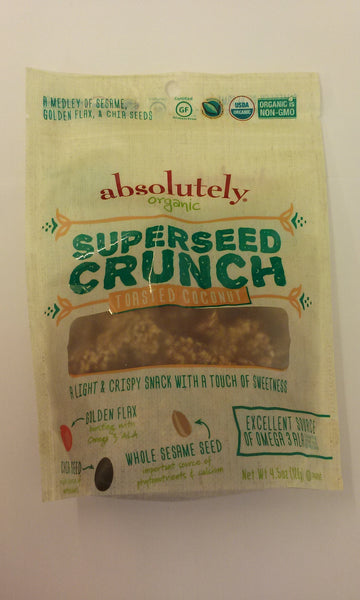 Absolutely Gluten Free Organic Super Seed Crunch - Toasted Coconut **NEW**