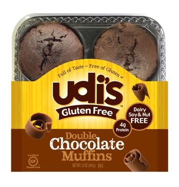 Udis Gluten Free Double Chocolate Muffins