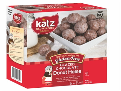 Katz Gluten Free Glazed chocolate Donut Holes ~NEW NEW~