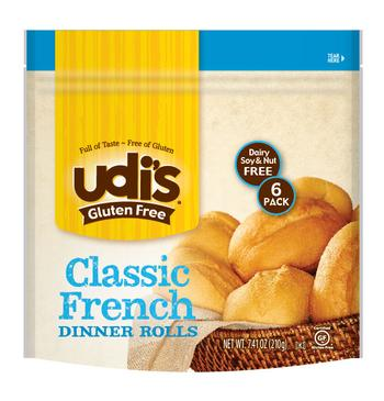 Udis Gluten Free Classic French Dinner Rolls