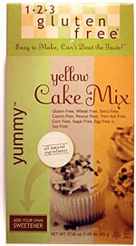1`2`3` Gluten Free - Yellow Cake Mix