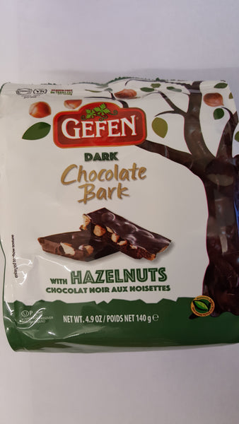 Gefen Dark Chocolate Bark With Hazelnuts