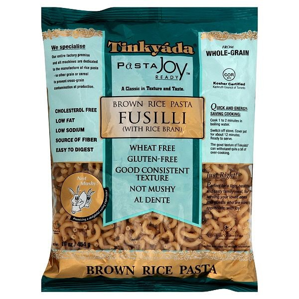 Tinkyada Brown Rice  Fusilli Pasta