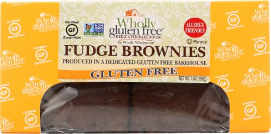 Wholly Wholesome Gluten Free Fudge Brownies
