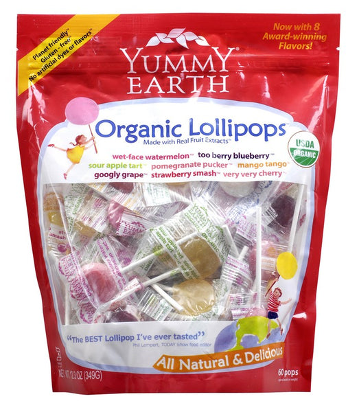 Yummy Earth Organic Lollipops - Assorted