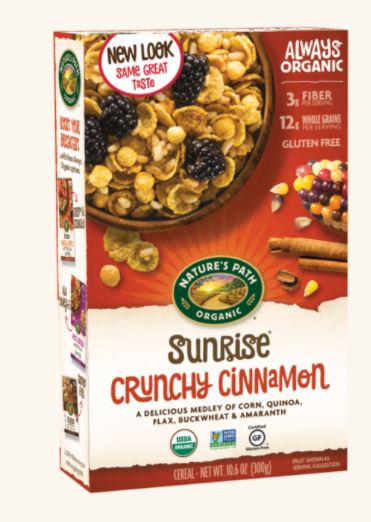 Natures Path Crunchy Cinnamon Cereal