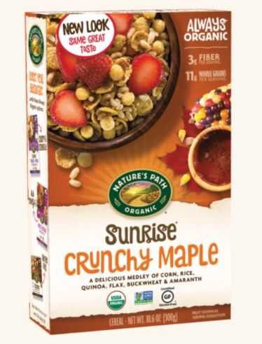 NATURE'S PATH SUNRISE® CRUNCHY MAPLE CEREAL