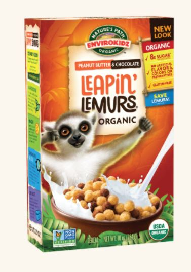 Natures Path Leapin Lemurs Peanut Butter & Chocolate Cereal
