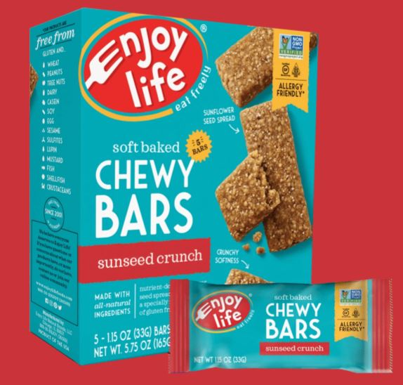 Enjoy Life Sunbutter Crunch Chewy Snack Bars