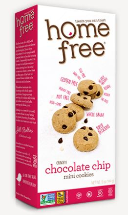 Home Free Mini Crunchy Chocolate Chip Cookies