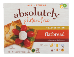 Absolutely Gluten Free Flatbread - Toasted Onion