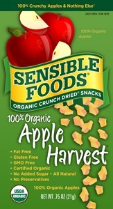 Sensible Foods Organic Apple Harvest Fruit Snack