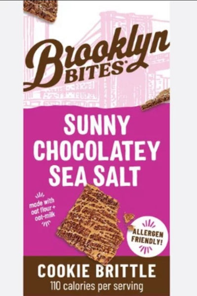 Brooklyn Bites Gluten Free Sunny Chocolatey Sea Salt Cookie Brittle