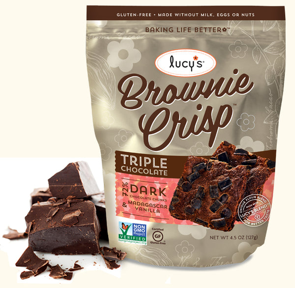 Lucys Triple Chocolate Brownie Crisp