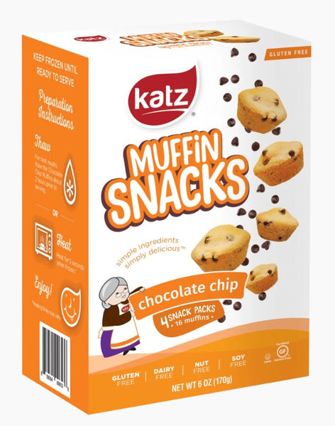 Katz Gluten free Chocolate Chip Muffin Snacks