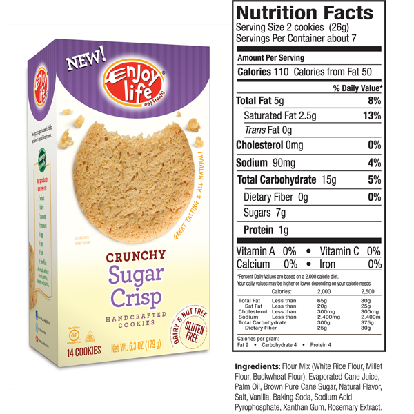 Enjoy Life Crunchy Sugar Crisp Cookies