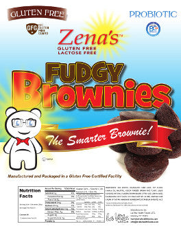 Zenas Fudgy Brownies W / probiotics