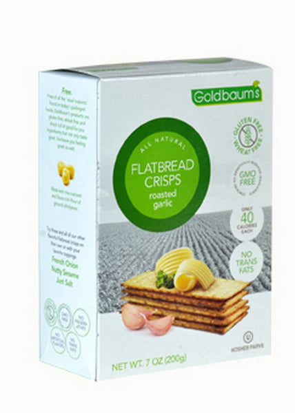 Goldbaums Flatbread Crisps - Roasted Garlic