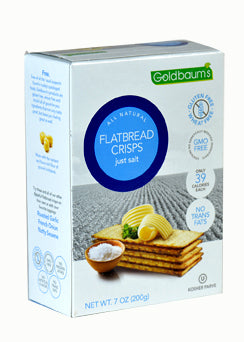 Goldbaums Flatbread Crisps -Just Salt