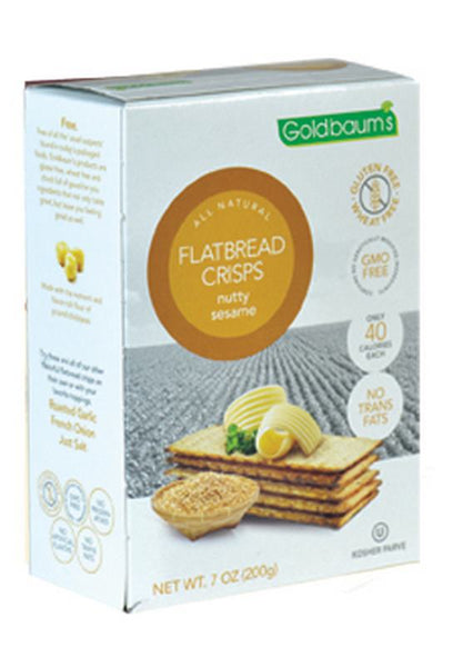Goldbaums Flatbread Crisps - Nutty Sesame
