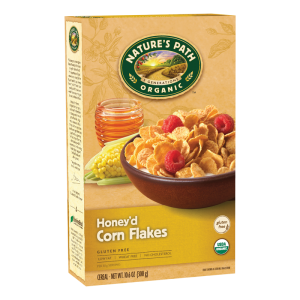 Natures Path Organic Honey'D Corn Flakes