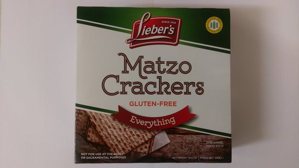 Liebers Matzo Crackers Everything - Gluten Free
