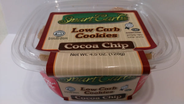 "Smart Carb ""LOW CARB"" Gluten Free Cocoa Chips Cookies"