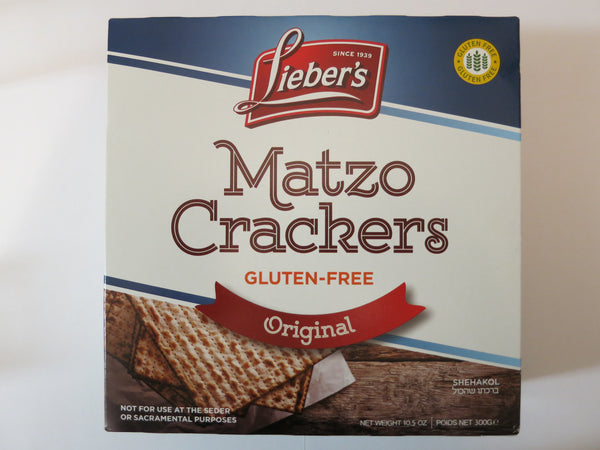 Liebers Matzo Crackers Original - Gluten Free **NEW**