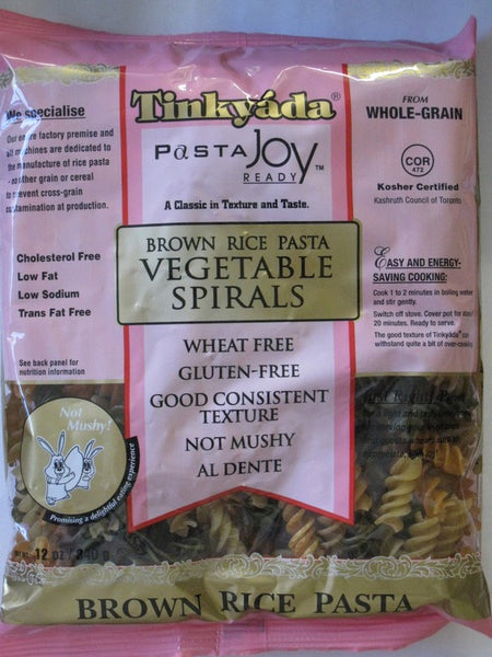 Tinkyada  Vegetable Spiral Pasta