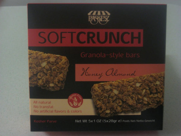 Paskesz Soft Crunch Honey Almond Granola Bars